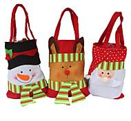 3PCS Creative Household Utility Gift Stereo Christmas Snowman Candy Bag Christmas Gift Bag Christmas Gift Bag Christmas Bag