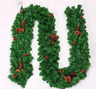 Christmas Wreath Pine Needles Christmas Decoration For Home Party Diameter 27cm Navidad New Year Supplies