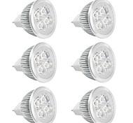 4W GU5.3(MR16) LED Spot Lampen MR16 Hochleistungs - LED 380 lm Warmes Weiß / Kühles Weiß V 6 Stück