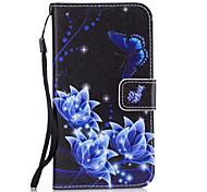 Для Чехлы панели Кошелек Бумажник для карт со стендом Задняя крышка Кейс для Цветы Твердый Искусственная кожа для SamsungS8 S8 Plus S7