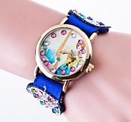 Women Fashion Casual Wrist Watch Top Brand Quartz Watch Ladies Korean Valvet Band Of Butterfly Shape Rthinestone Band Effel Tower Dial