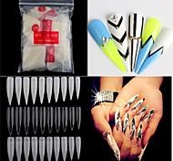 500pcs обнаженные белые Ложные искусства ногтя советы французский акриловый уф салон искусства ногтя инструменты
