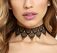 Women Euramerican Retro Sexy Popular Element Lace Necklace Hollow Black Lace Collar New Arrival Jewelry Gift 1pc