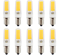 2W E14 LED AC/DC 220-240V  Bi-pin Lights T COB 270-290 lm Warm White Dimmable / Waterproof  10 pcs Warm White/Cool White