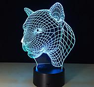 1шт 2016 леопард голову индукционная лампа Светодиодная лампа новизны продукции интеллектуальные творческие подарки 3d визуальной ночник