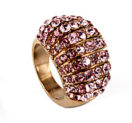 Luxurious Full CZ Stones Inlay 316L Stainless Steel Ring
