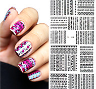 1 pc Tribal Geo Pattern Nail Water Decals Black Grid Transfer Nail Art Stickers YE-314 DIY Nail Art Decorations