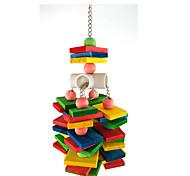 Bird Toys Wood Nylon Multi-Color