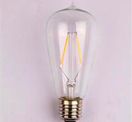 2W E26/E27 Bombillas de Filamento LED ST58 2 SMD 2835 200 lm Blanco Cálido Decorativa AC 100-240 V 1 pieza
