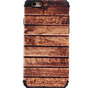 For Shockproof Wood Grain Pattern Magnetic Absorption Case Back Cover Case Silicone And PC for Apple iPhone 7 Plus 7 6 5 SE