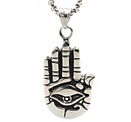 Punk Style Pendant Charm Necklace 316L Stainless Steel Retro Hand Palm Shape Men And Women Jewelry