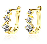 New Design 18K Gold Plated Clip Earrings with AAA Zircon Fashion Jewelry Woman Wedding Gift Good Quality E129
