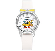 KEZZI Kids' Fashion Watch Wrist watch Casual Watch Quartz Japanese Quartz PU Band Cartoon Casual White Blue Red Pink Purple