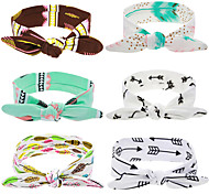 New Cute Baby Flower Elastic Headband Bow Knot Band Rabbit Ears Headwear Girls Hair Cotton Hats Hair Accessories