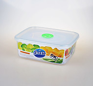 rectangular recipiente de alimento transparente com 1,9 litros orifício do parafuso