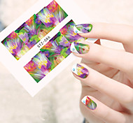 1pcs  Water Transfer Nail Art Stickers Colorful Flower Nail Art Design STZ86-90
