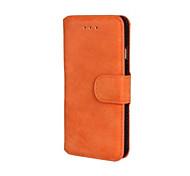 скраб пу кожаный чехол для всего тела с подставкой и слот для карт памяти для iphone 6 (разных цветов)