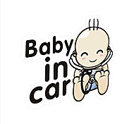 "Lovely ""Baby in Car"" Lovely baby Car Stick."
