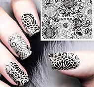 1pcs Geometric Flower Watermark  Nail Stickers Nail Art Design
