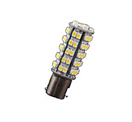 10X Warm White 1156 BA15S RV Trailer LED Lights Bulbs 68 SMD Reverse Turn Signal
