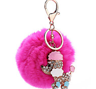 Key Chain Sphere Dog Key Chain Metal Plush