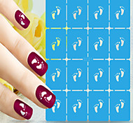 1pcs  New Nail Art Hollow Stickers Beautiful Image Designs Nail Art Beauty S021-S030