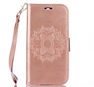 Для Бумажник для карт Кошелек со стендом Флип Рельефный Кейс для Чехол Кейс для Мандала Твердый Искусственная кожа для HTC HTC One M8