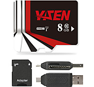 YISEN 8GB Micro SD card Class 10 80 OtherMultiple in one card reader Micro sd card reader SD card reader CF card reader Memory stick reader