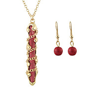 Fashion Big  Necklace And Earring Jewelry Sets