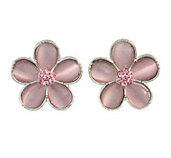 Flower Small Stud Earrings for Ladies