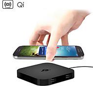 Qi wireless caricabatterie pad 2 porte USB di ricarica per Samsung htc lg nesso nokia