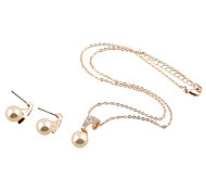 Jewelry 1 Necklace 1 Pair of Earrings Wedding Party Daily Casual 1set Women Gold Wedding Gifts