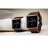 WatChband For Apple iWatch, Watchband With Connector For Apple iWatch, Genuine Leather Watchband for iWatch38mm