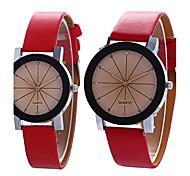 Для пары Модные часы Наручные часы / Кварцевый PU Группа Винтаж Cool Повседневная Черный Белый Синий Фиолетовый