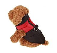 Собака Плащи Жилет Одежда для собак Сохраняет тепло Сплошной цвет Красный Зеленый Синий Розовый
