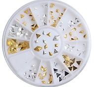 1pcs Nail Jewelry Small Alloy Gold Silver Large Diamond
