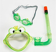 Swim Mask Goggle Snorkel Set Snorkeling Packages Swimming Diving / Snorkeling PVC Blue Green