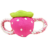Dog Toy Pet Toys Interactive Plush Toy Squeaking Toy Squeak / Squeaking Durable Fruit Pink Textile