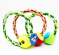 Игрушки для животных Жевательные игрушки Веревка Мячи для тенниса