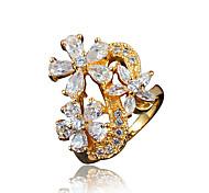 Flower Designs Africa Design Real Gold Plating Statement Ring