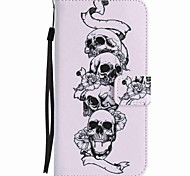 For Google Pixel XL Pixel Case Cover Skull Painted Lanyard PU Phone Case