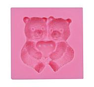 Валентина подарок милый медведь помады силиконовые формы торт шоколадные конфеты посуда SM-030
