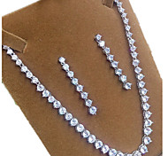 Women's Jewelry Set Zircon Cubic Zirconia Crown Necklaces Earrings For Party Wedding Gifts