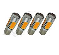 4x желтый высокой мощности bau15s 1156py 7.5W хвост тормозной сигнал Светодиодные лампы 7507