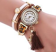 Women's Bracelet Watch Quartz PU Band Black Blue Red Brown
