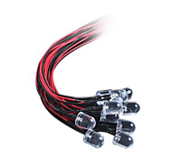 10MM LED Light-Emitting Diode With A Line Of Light DC12V Hair Red / White / Blue / Yellow / Green(10Pcs)