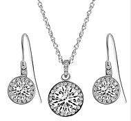 Jewelry Set Imitation Diamond Zircon Cubic Zirconia Alloy White Party Daily Casual 1set 1 Necklace 1 Pair of Earrings Wedding Gifts