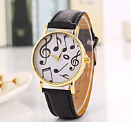 New School Student Watch Men Watch Music Pattern Leather Watch Unisex Watch Women Watch Strap Watch