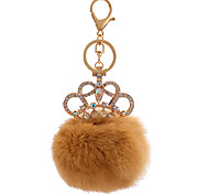 Key Chain Sphere Orange Metal Plush