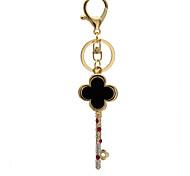 The shape of key Car Keychain personality Rhinestone studded Keychain Metal Keychain